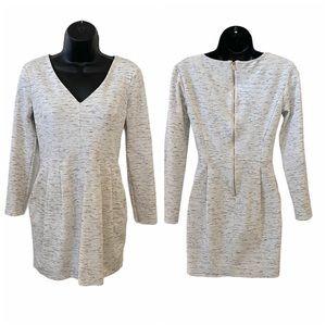 Dynamite long sleeve grey dress mini length small